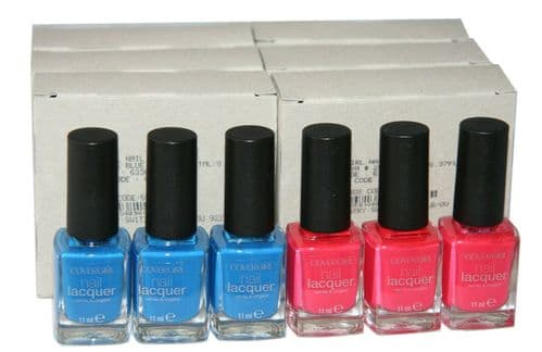 48 x CoverGirl Nail Lacquer | 2 Shades | My Papaya 250 | Out of the Blue 295 |